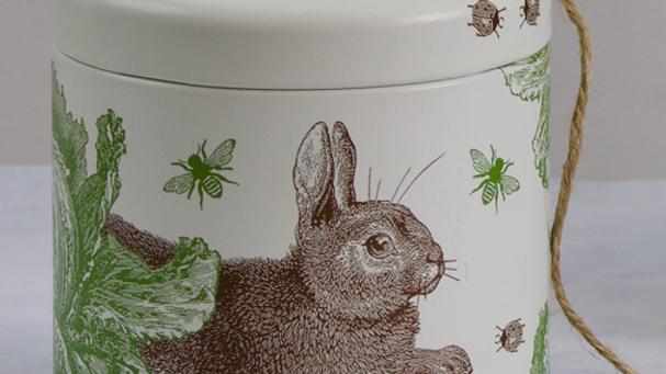 Rabbit& Cabbage String Tin