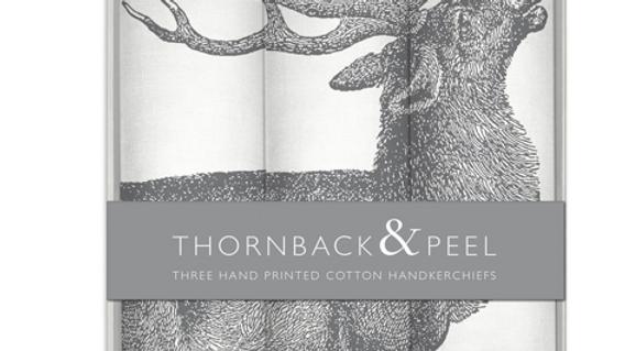 Set of three Stag Handkerchiefs