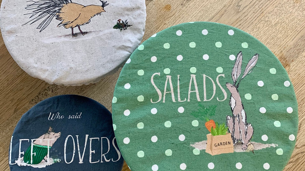 Mixed Set of Reusable Labelled Food covers