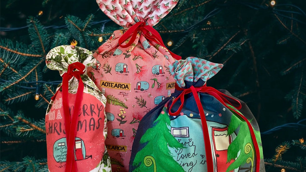 New Zealand Reusable Christmas Bags- Set of 3