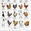 Thumbnail: Chickens of the World Tea Towel