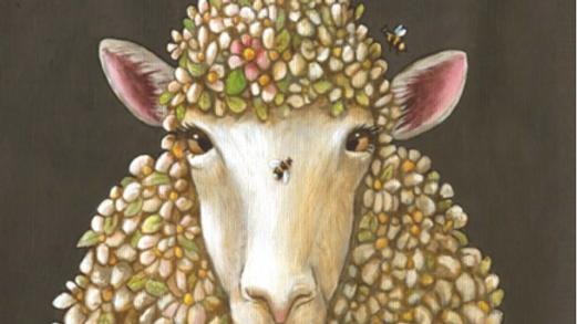 Sheep and Bees Tea Towel