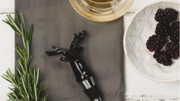 Stag Glass Bottle Stopper