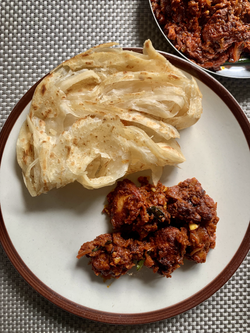 Chicken Ghee Roast W/ Malabar Parrota