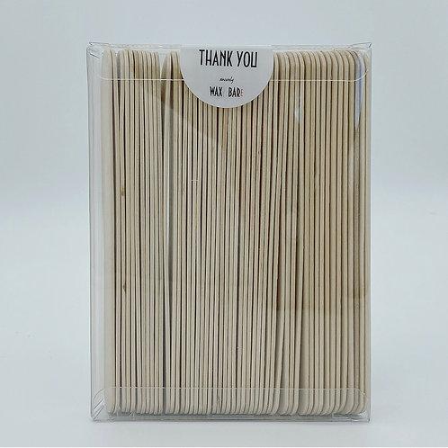 6 in wooden wax applicators (50ct)