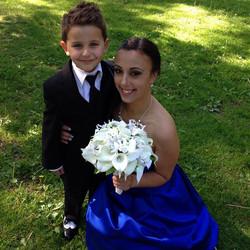 Bridesmaid bouquet, Ashley Ouellette wedding