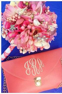 Bridesmaid bouquet, coral wedding