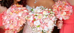 Bridal Party Beach Wedding Bouquets - Lindsey and Pauly Wedding
