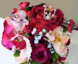 Top view of Olivia's bouquet