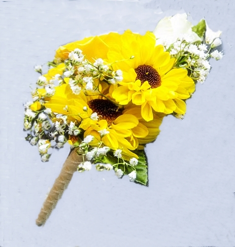 sunflower boutonniere2