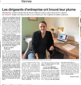 """Ouest France: Caroline Morlat, """"Les dirigeants d'entreprise ont trouvé leur plume"""""""