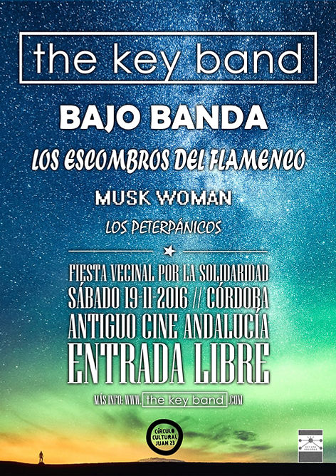 THE KEY BAND POSTER CONCIERTO REY HEREDIA