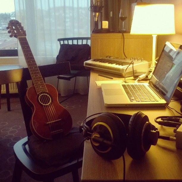 Hotel room mobile studio #Narvik #Scandic