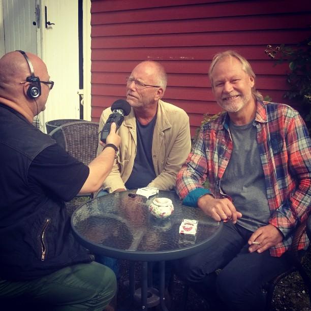 #Låtskriverworkshop #Horten2014 Flinke tekstmentorer, Hovland og Myhre intervjues av #Oradio