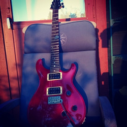 #sweetaxe #prs waiting for owner to fill the glass with sone ruby drops 😜🎶_This axe is signed by P