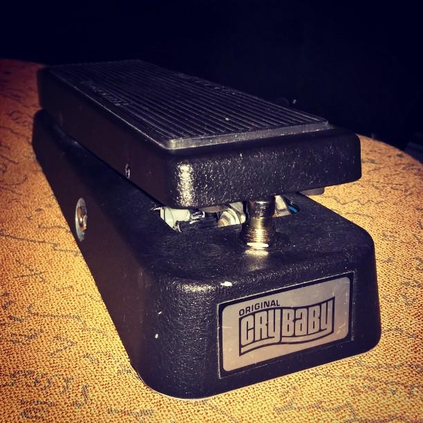 Say wah_!_Diggin my original #crybaby #wah  #jimdunlop #guitarstuff #guitarporn #wahwah