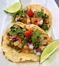 Garlic Chicken Tacos