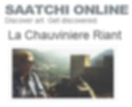 saatchi art, la chauviniere riant sur saatchi