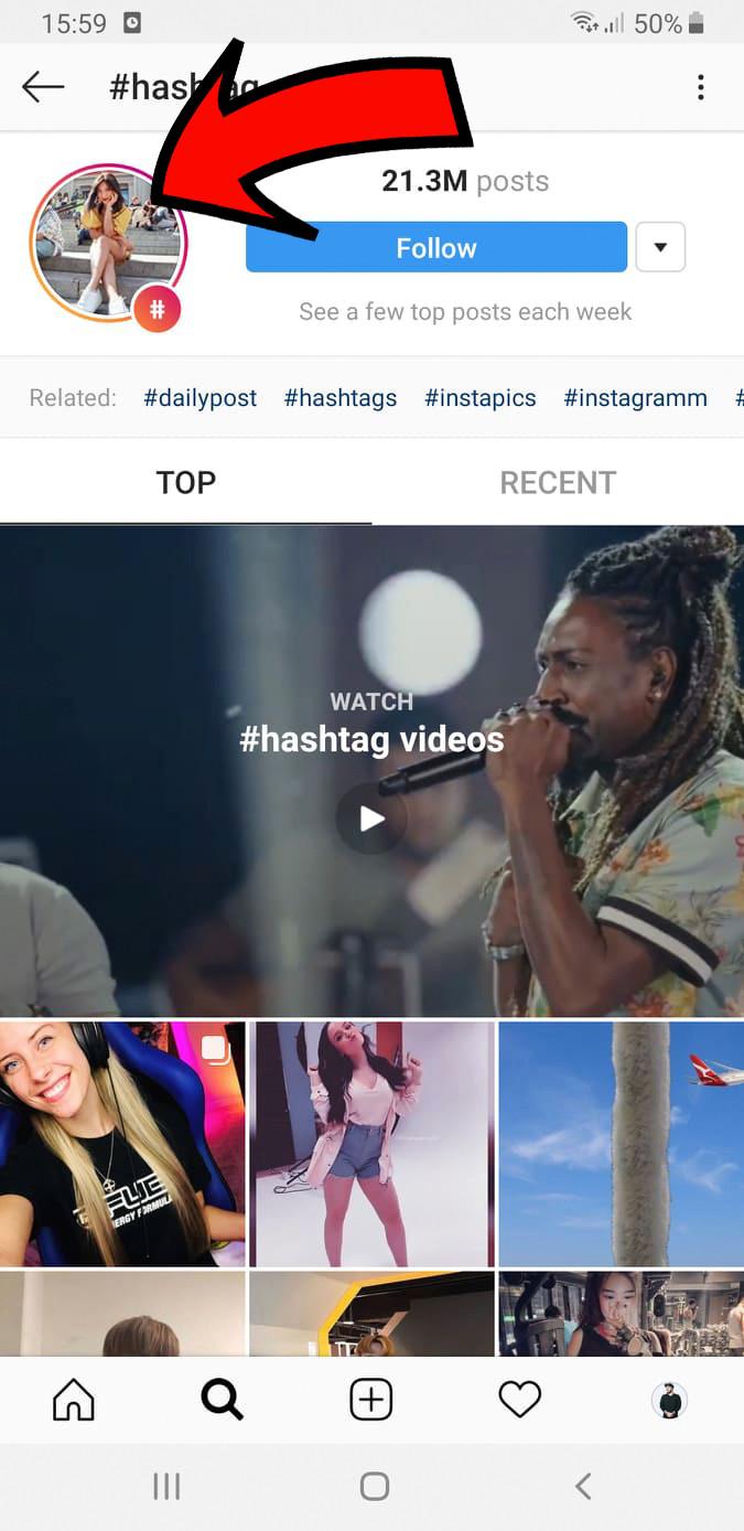 Instagram Hashtag Story