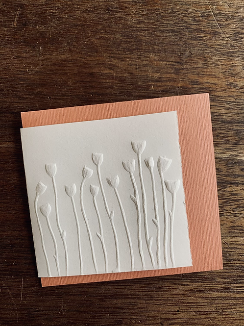 Embossed Gift Card - Poppies