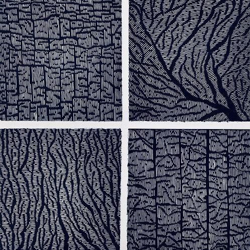 Fractured Impressions - Composite Linocut Print