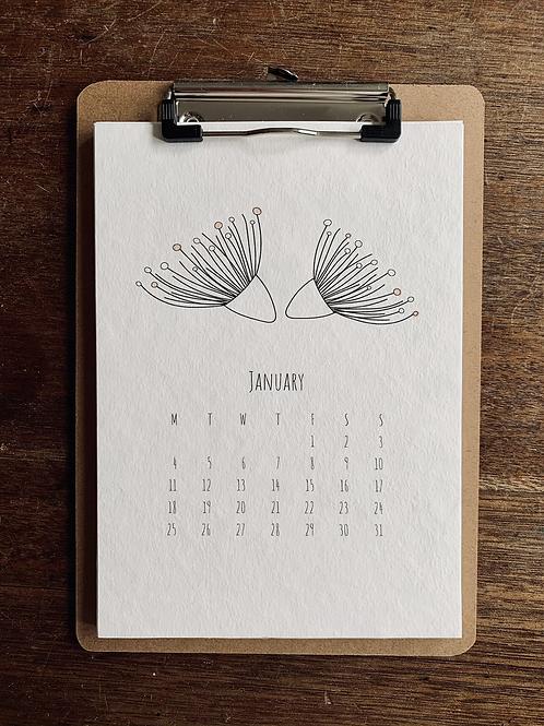 2021 Calendar - A5 size