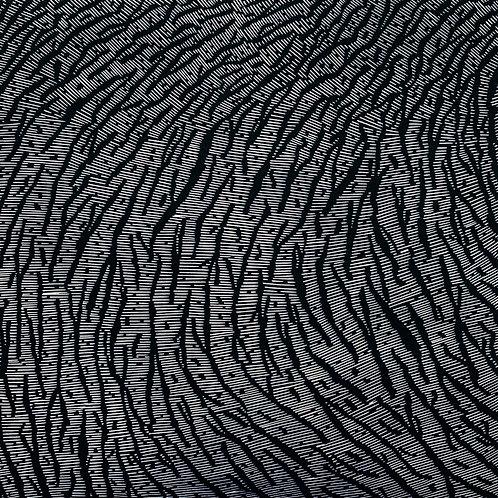 Crevasse Field - Linocut Print