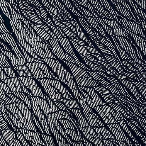 Glacial Rift - Linocut Print