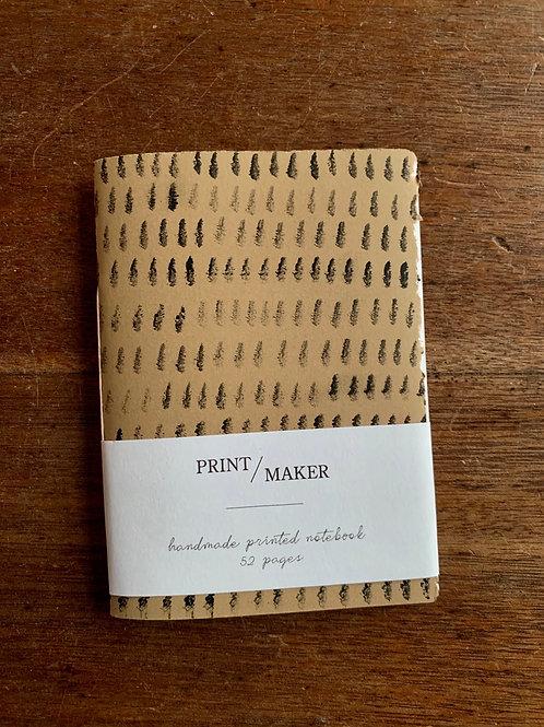 A6 Handprinted Notebook - Black