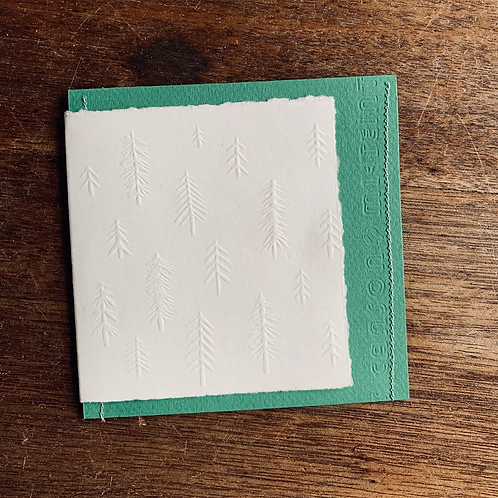 Embossed Gift Card - Christmas Trees