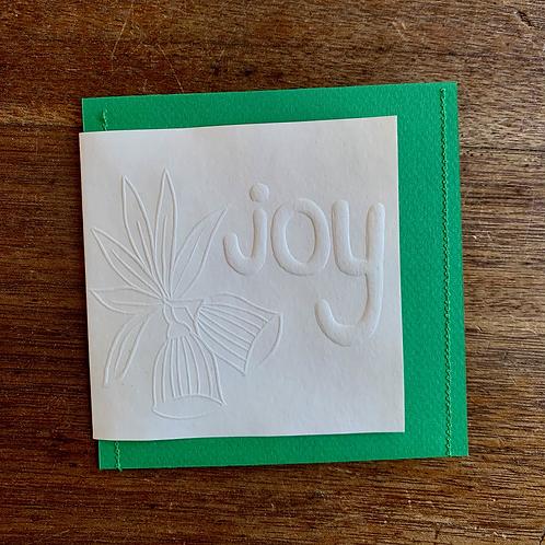 Embossed Gift Card - Christmas Joy