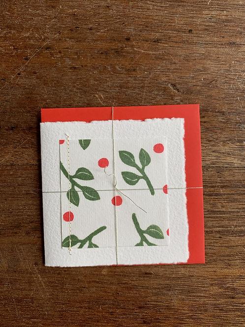 Small Gift Card - Christmas Buds