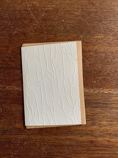 Embossed Gift Card - Rock Face
