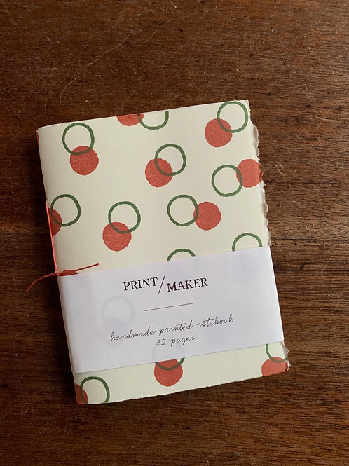 A6 Handprinted Notebook - Circles