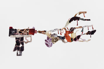 Decorative gun explosion #11 (Uzi)