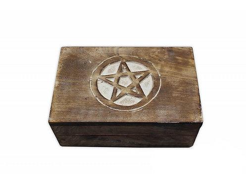 Magická krabička - pentagram bílý
