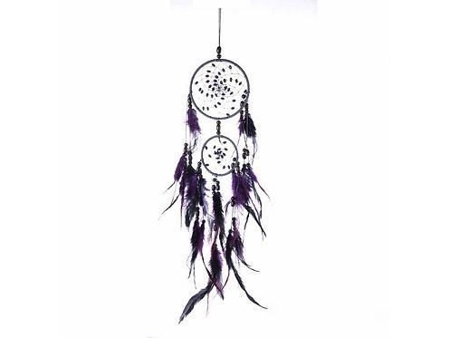 Lapač snů - Šedo-fialovo-černý s perličkami
