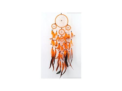 Lapač snů - větší oranžový s tygřími oky