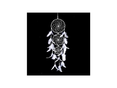 Lapač snů - velký bílý s korálky