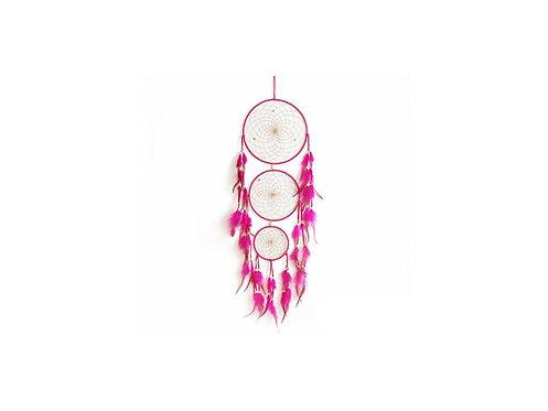 Velký lapač snů - růžový s tyrkenitem