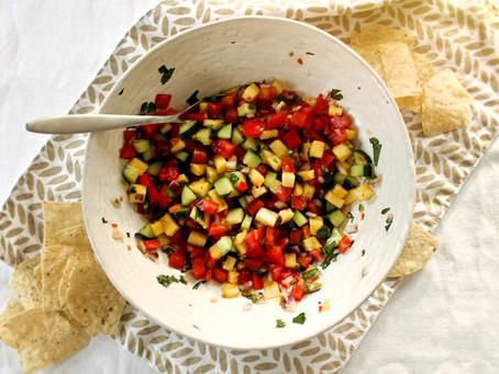 Pineapple Red Chili Pepper Fresh Salsa
