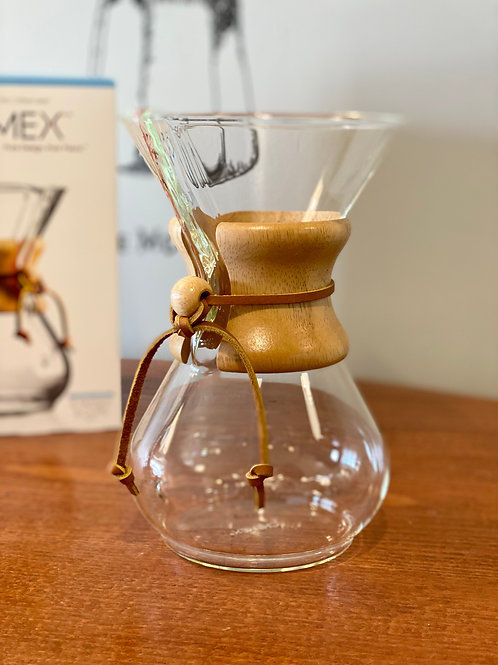 Chemex 6 Cup Pour Over Glass Coffee Maker
