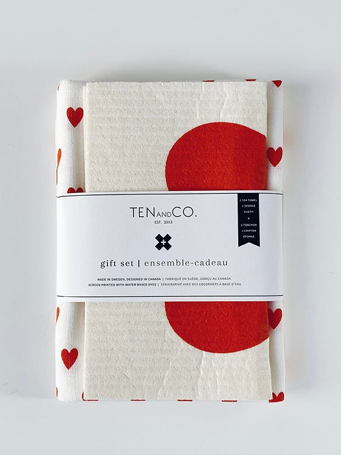 TENandCO. Red Heart Gift Set