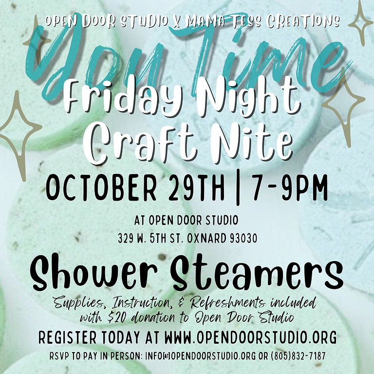 """""""YouTime"""" Friday Night Craft Nite - Shower Steamers"""