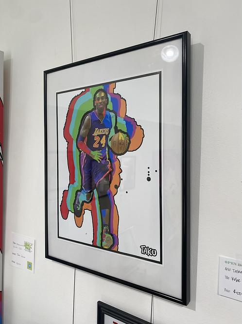 "Kobe Covered in Color by Taku Johnson - 11x14"" Digital Print, Framed"