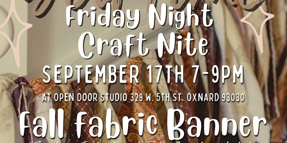 """""""YouTime"""" Friday Night Craft Nite - Fall Fabric Banner"""