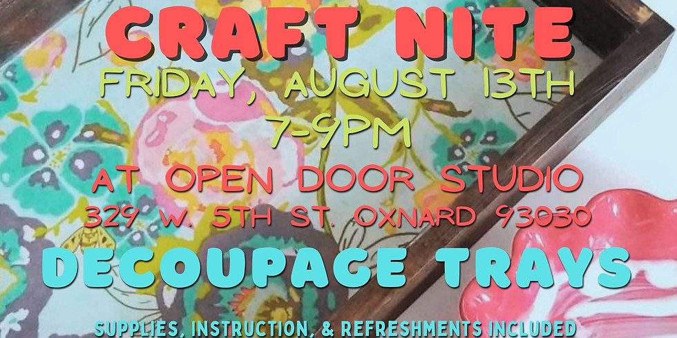 YouTime Craft Night: Decoupage Tray