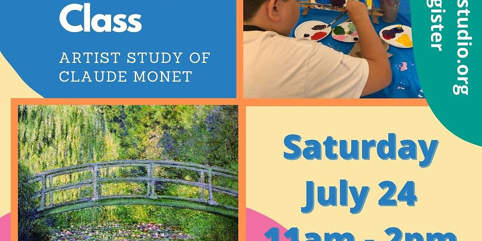 Painting With The Masters Summer Kids Class: Claude Monet
