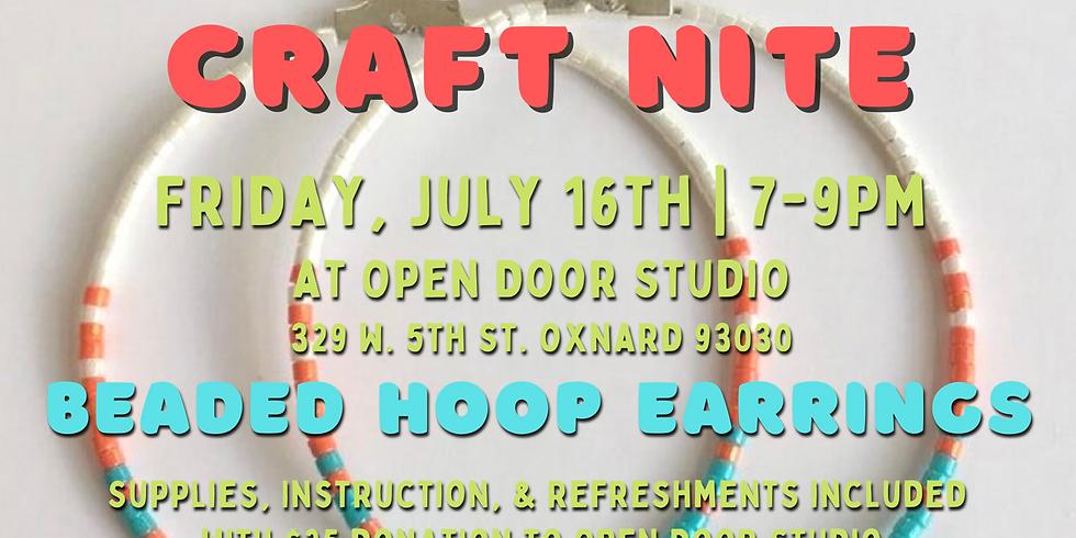 YouTime Craft Night: Beaded Hoop Earrings  (1)