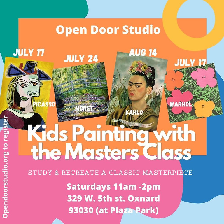 Painting With The Masters Summer Kids Class: Frida Kahlo